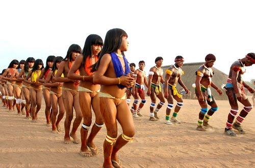 spywc xingu indians from xingu river