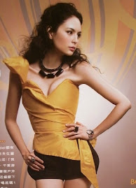 Ana R in Dejavu silk taffeta yellow corset