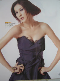 Artist Linda Chung in Dejavu corset dress