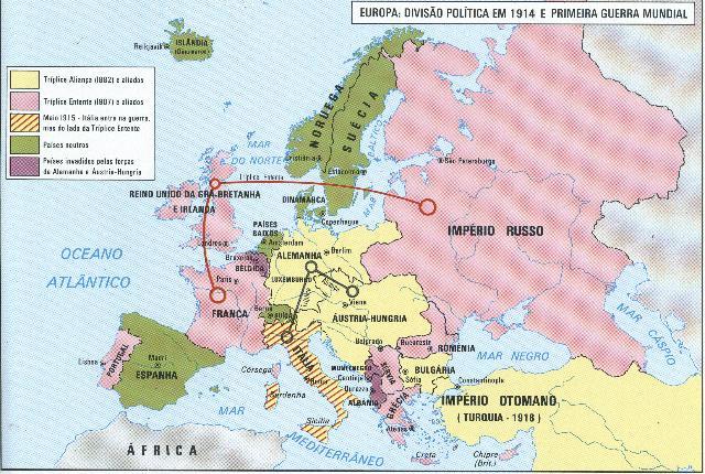 Mapa De Europa. Mapa da Europa