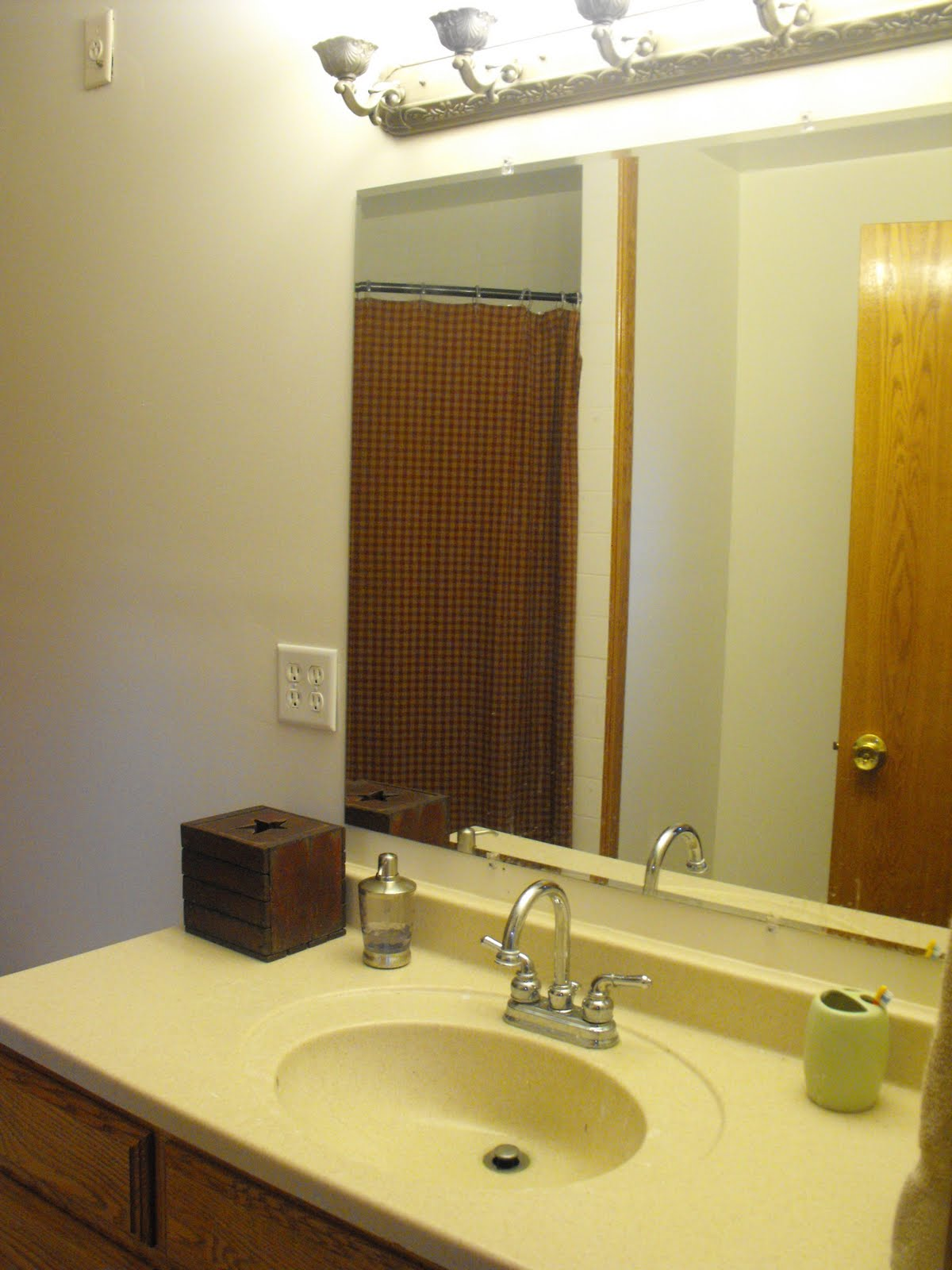 At home with k master bath makeover for Master bathroom makeover