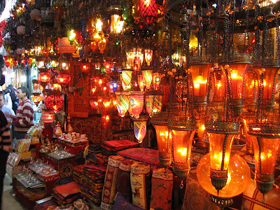 A Lamp Shop At The Kapali Karsi In Istanbul. These Also Remind Me Of The  Lamps You See In Venice, Which They Probably Found From Islamic Traders.