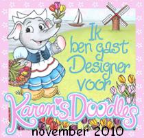 gastdesigner in nov bij Karen Doodles
