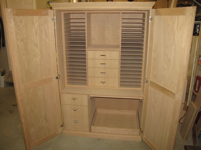 Custom furniture scrapbooking armoire for Armoire de rangement