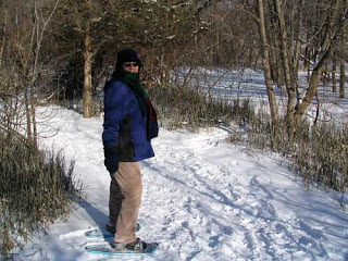 Lynn Snowshoeing