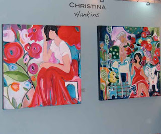 Christina Hankins' paintings