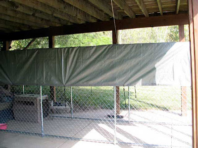 tarp covering kennel