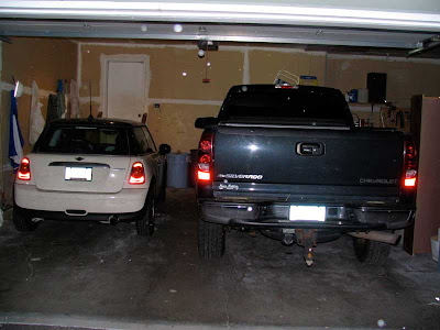 vehicles in garage
