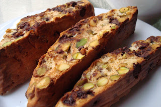 Dishing Up Delights: Honey, Pistachio and Chocolate Chip Biscotti