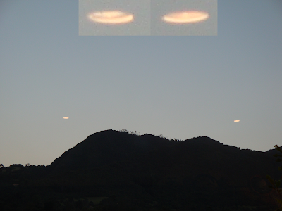 UFO Sighting 2 Glowing UFO's Captured, UFO Sighting News
