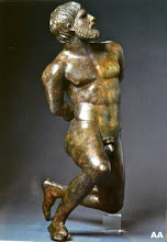 Gaulois captif  bronze  70cm