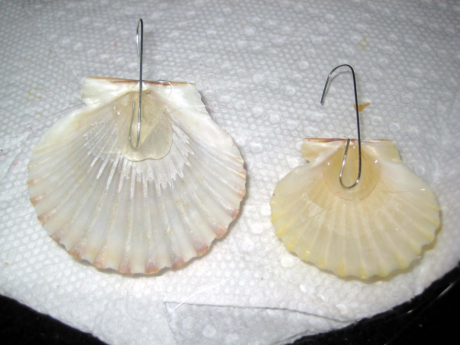 Sea shell christmas ornaments - Christmas Ornament Craft Glittered Sea Shells