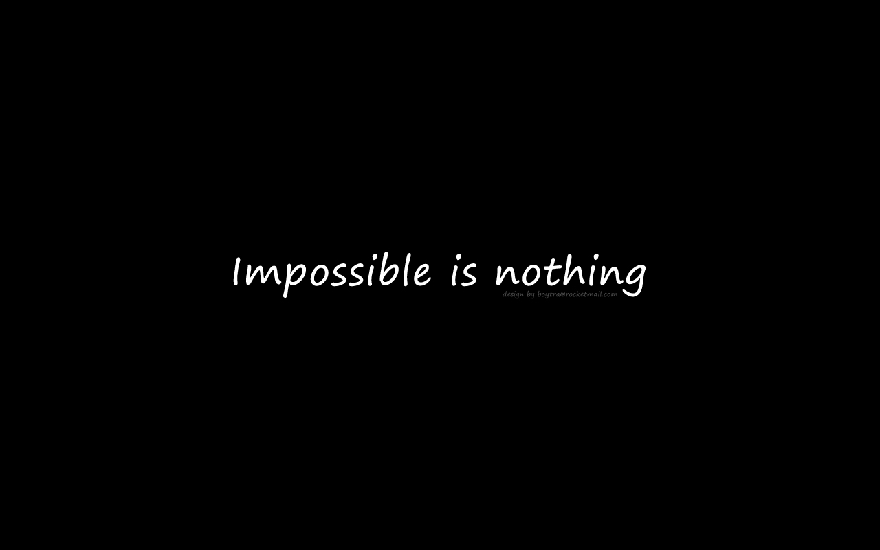 Impossible Is Nothing Wallpaper | 2017 - 2018 Best Cars ...