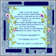 TARJETICA DE MAURA POR EL MES DEL AMOR Y LA AMISTAD
