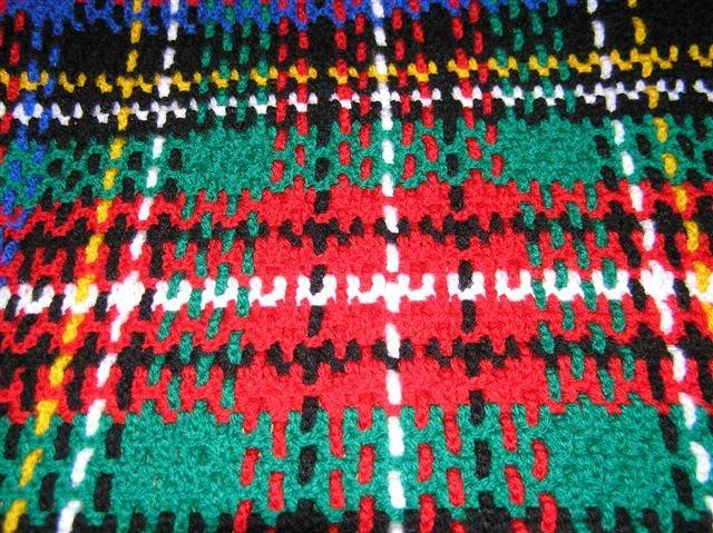 Simply Having Fun with Stamps....: Crochet Stuart Tartan Rug