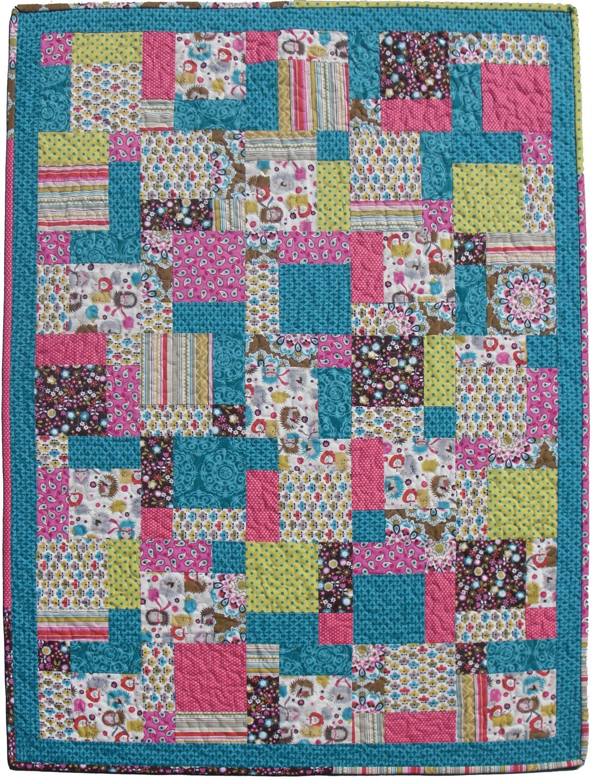 Super Easy Beginner Quilt Patterns : Obsessively Stitching: The Quilt!