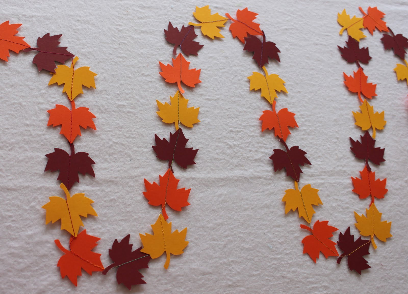 fall garland by Obsessively Stitching