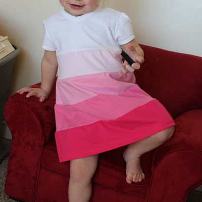 sewing dress for a little girl: tiered toddler dress, recycling ideas