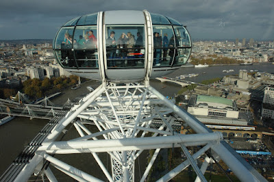 A London Eye capsule against the city background