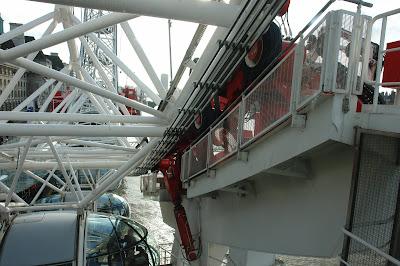 The wheels that make London Eye work