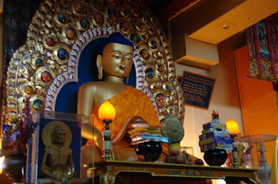 Photo of Buddha in Dalai Lama temple