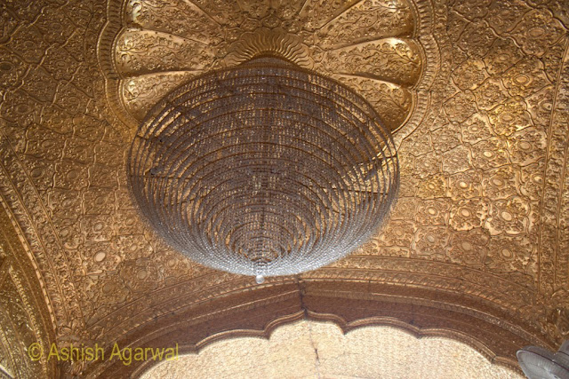 Fan on the top of the causeway leading to the Darbar Sahib in Amritsar