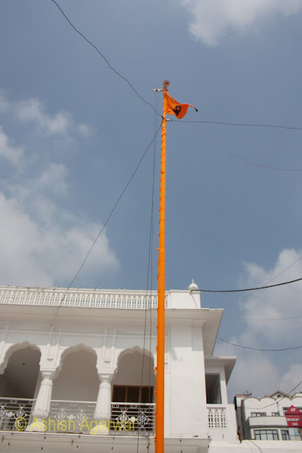 Nishaan Sahib, the flagstaff at the Golden Temple in Amritsar
