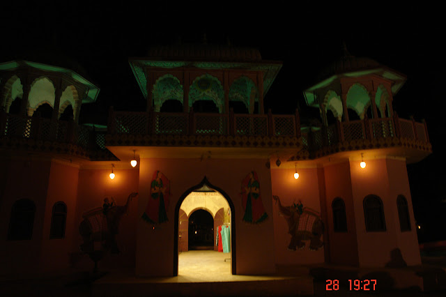 Photo of An impression of an old Haveli inside the tourist village of Chokhi Dhani