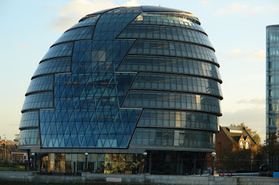 Close up view of London City Hall