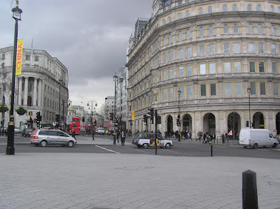 Another photo of a road off Trafalgar Square