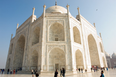 Angular view of the Taj from a corner