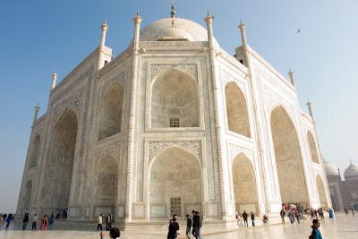 Angular view of the Taj from a corner