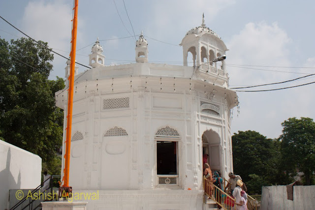 A photo of the Thara Sahib, the shrine of the 9th Guru of the Sikh religion inside the Golden Temple in Amritsar