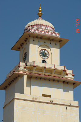 Clocktower inside the complex of Jaipur City Palace