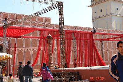 Photo of Preparing for a celebration inside the Jaipur City Palace