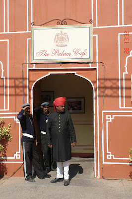 Photo: Personnel in front of a gate in the Jaipur City Palace