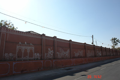 Photo of View of a decorated wall in Jaipur