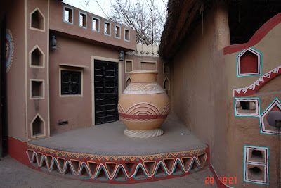 Photo of earthern pot inside Chokhi Daani
