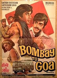 Bombay to Goa (1972) - starring Amitabh Bachchan, Shatrughan Sinha, Aruna Irani and Mehmood, with some good music