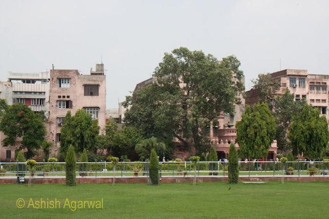 Buildings lining the boundaries of the Jallianwala Bagh memorial in Amritsar