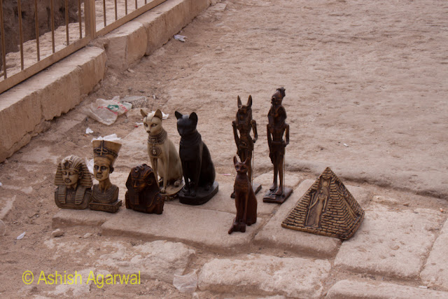 Cairo Pyramids - Some curios for sale near the Great Pyramids in Giza