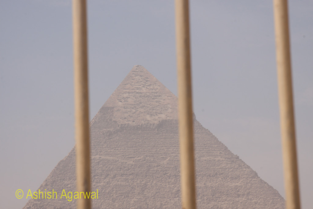 One of the Great Pyramids, as seen from the barrier around the Great Sphinx