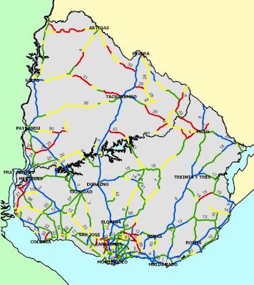 Estado de las rutas uruguayas