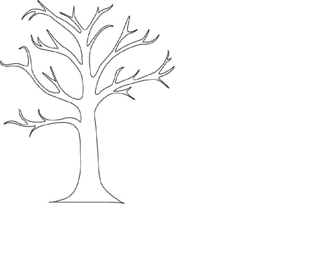 Free Coloring Pages Of Bare Tree Outline Kindergarten Tree Coloring Page