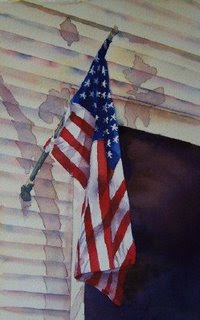 Deb Ward Flag painting
