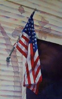 Deb Ward Flag painting