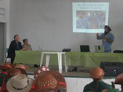Palestra sobre as condições atuais do bacamarte em Pernambuco em Flores