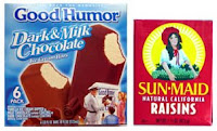 Good Humor Bar vs Sun-Maid Raisins