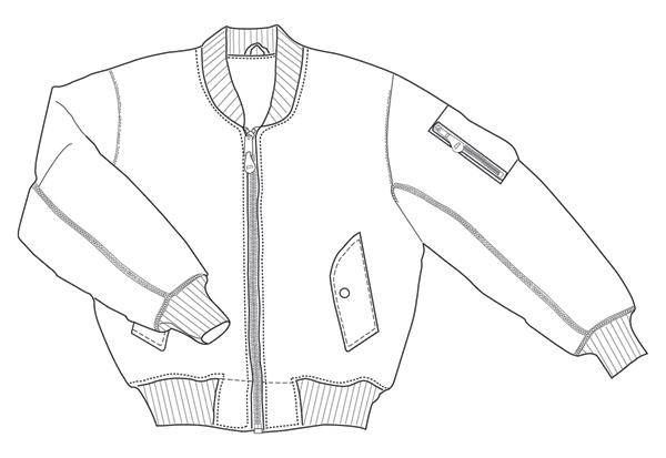 Line Drawing Jacket : Darkthreads news pick of the day tru spec flight jacket