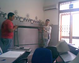 Ecco i due lavoratori della Diabolika 5na(Scervo Domenico & Velonà Alfonso) mentre sono all'opera